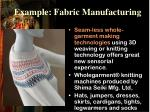 example fabric manufacturing