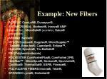 example new fibers