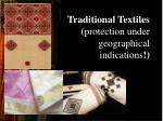 traditional textiles protection under geographical indications