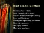 what can be patented