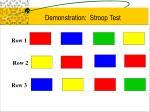 demonstration stroop test