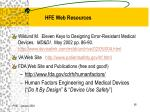 hfe web resources