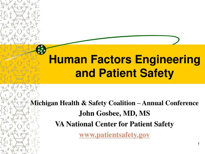 human factors engineering and patient safety n.