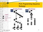 pca programming sequence redesign