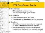 pca pump errors results
