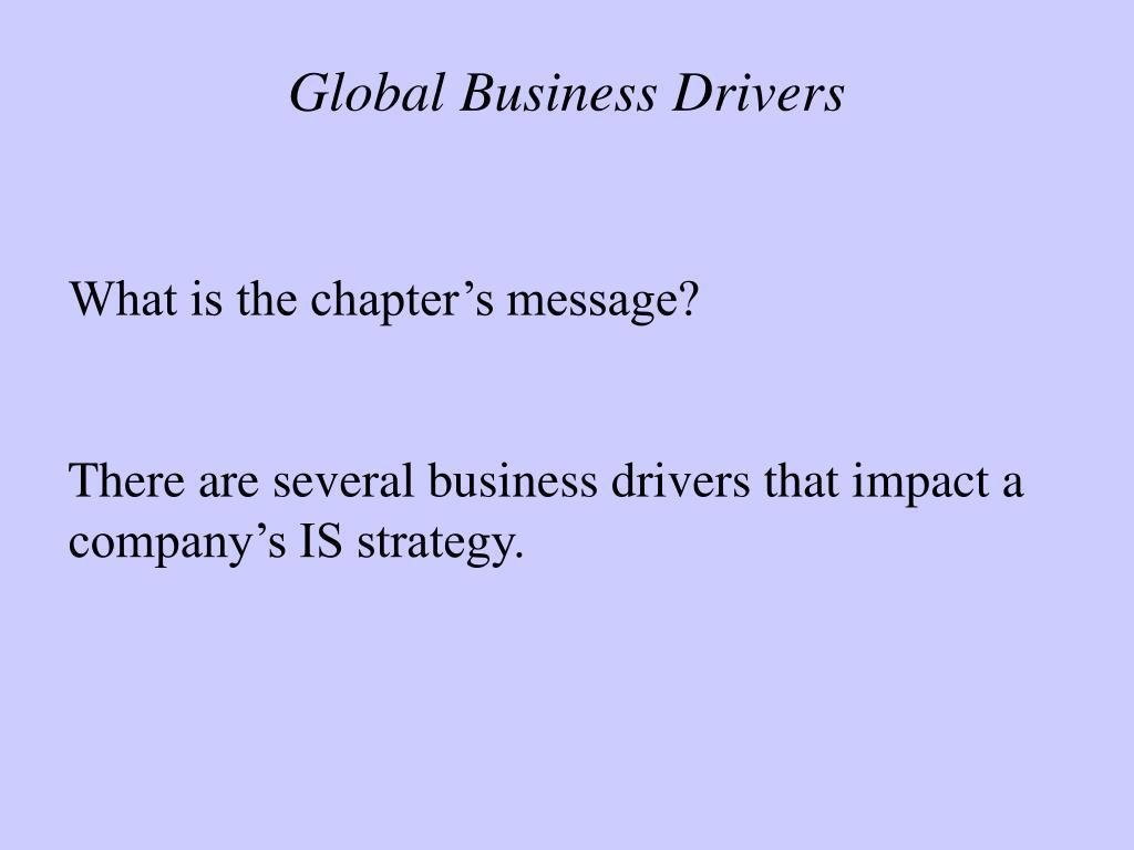 global business drivers l.