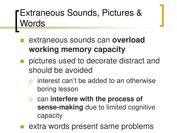 Extraneous Sounds, Pictures & Words