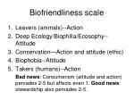 biofriendliness scale
