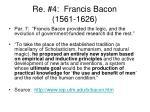 re 4 francis bacon 1561 1626