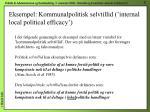 eksempel kommunalpolitisk selvtillid internal local political efficacy
