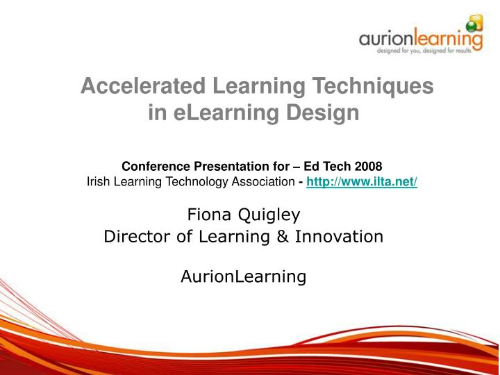 fiona quigley director of learning innovation aurionlearning n.