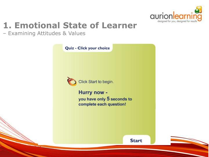 1. Emotional State of Learner