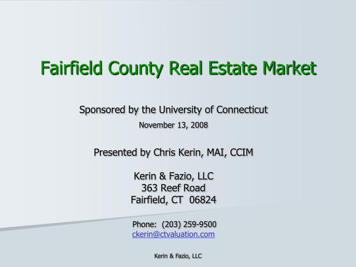 Fairfield county real estate market