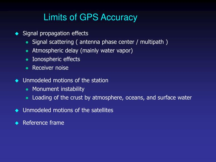 Limits of GPS Accuracy