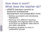 how does it work what does the teacher do