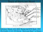 track of hurricane hazel