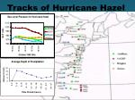 tracks of hurricane hazel