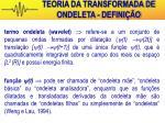 teoria da transformada de ondeleta defini o