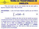 teoria da transformada de ondeleta10