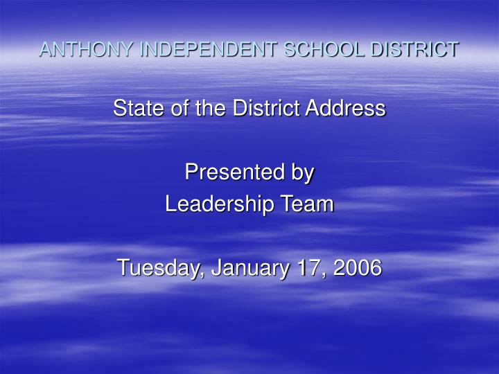 anthony independent school district n.