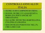 controlli annuali in italia