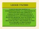 legge 376 2000