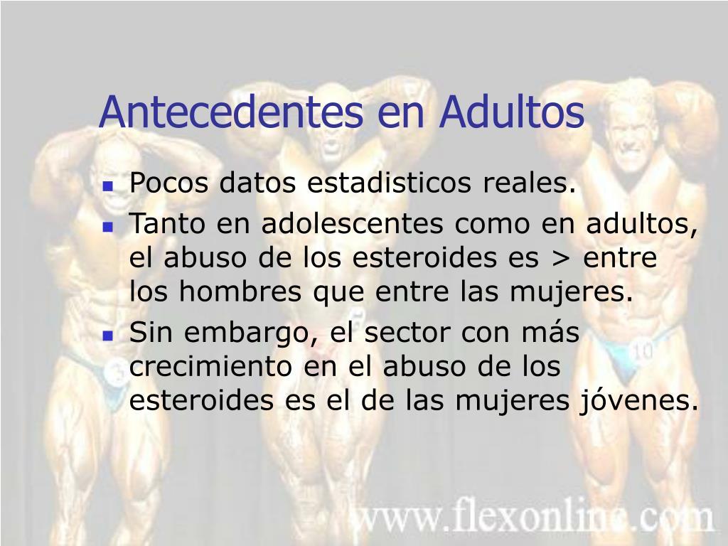 Antecedentes en Adultos