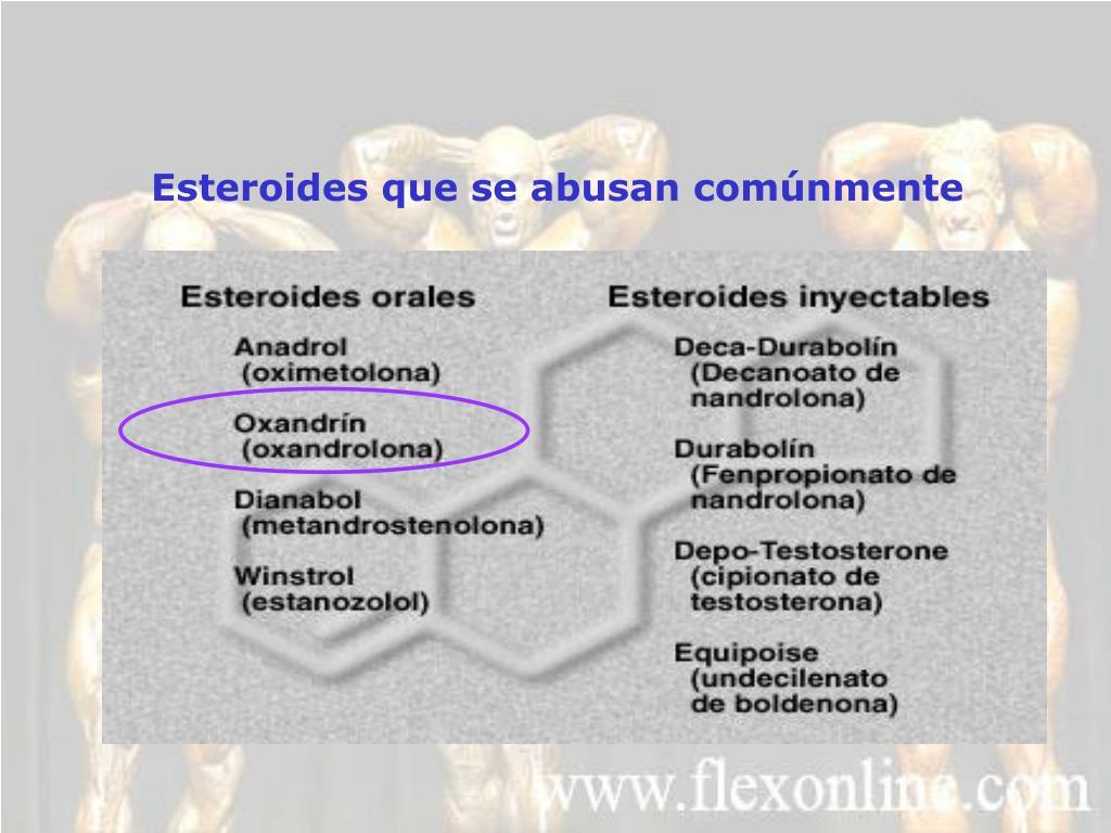 Esteroides que se abusan comúnmente