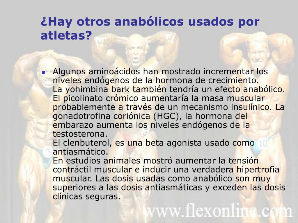 ¿Hay otros anabólicos usados por atletas?