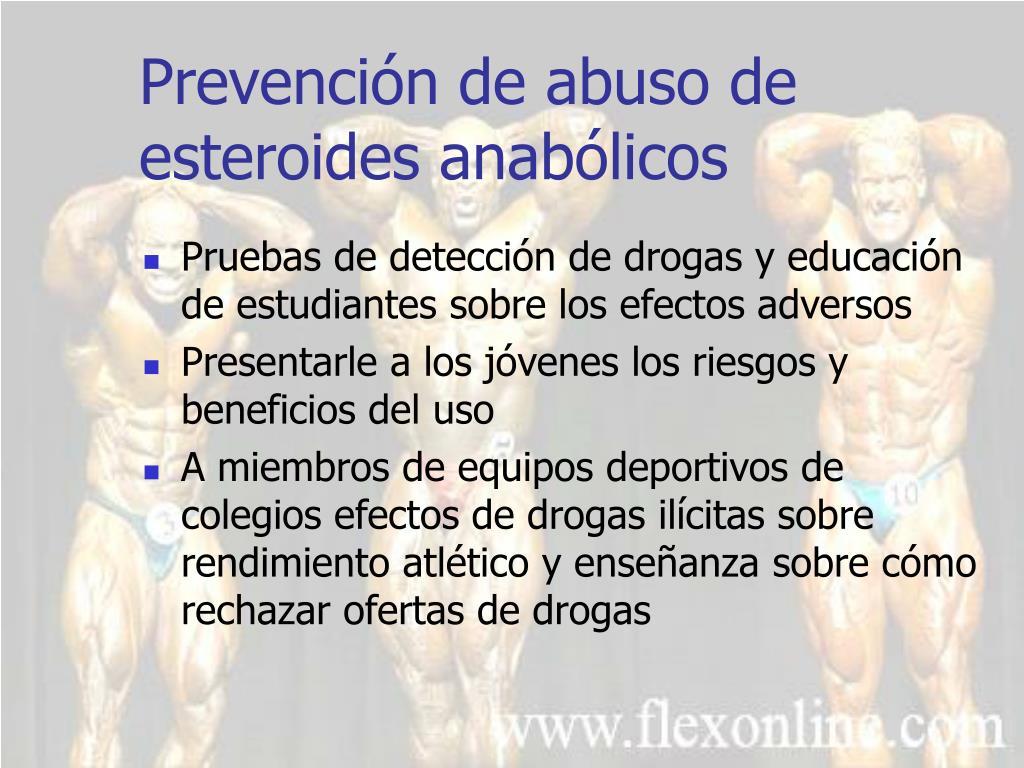 Prevención de abuso de esteroides anabólicos