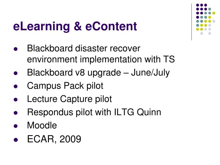 Elearning econtent