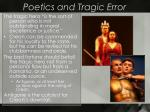 poetics and tragic error