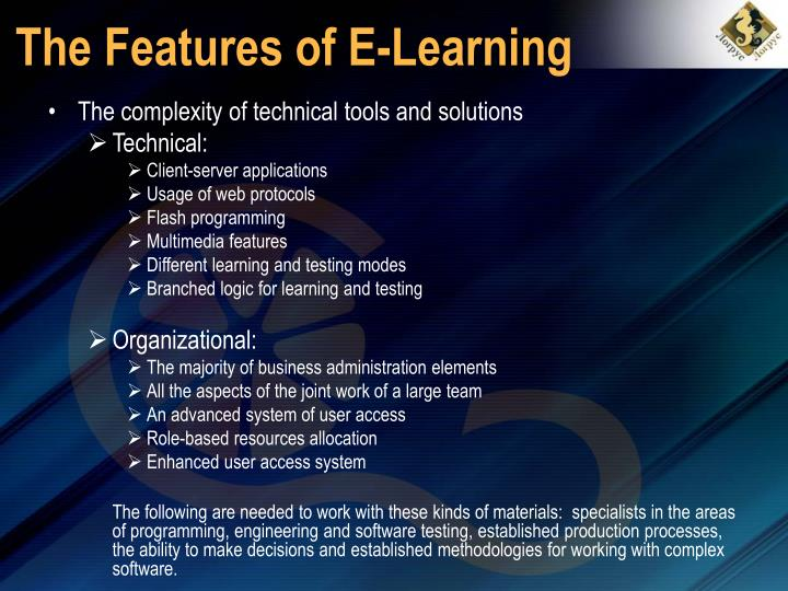 The features of e learning