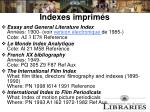 indexes imprim s