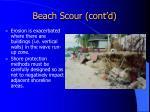 beach scour cont d