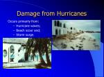 damage from hurricanes