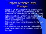 impact of water level changes