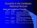tsunamis in the caribbean historical account