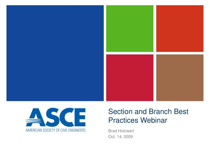 section and branch best practices webinar n.