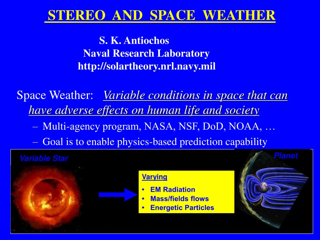 stereo and space weather l.