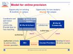 model for online provision5