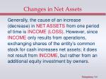 changes in net assets