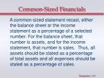 common sized financials