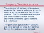 temporary permanent accounts