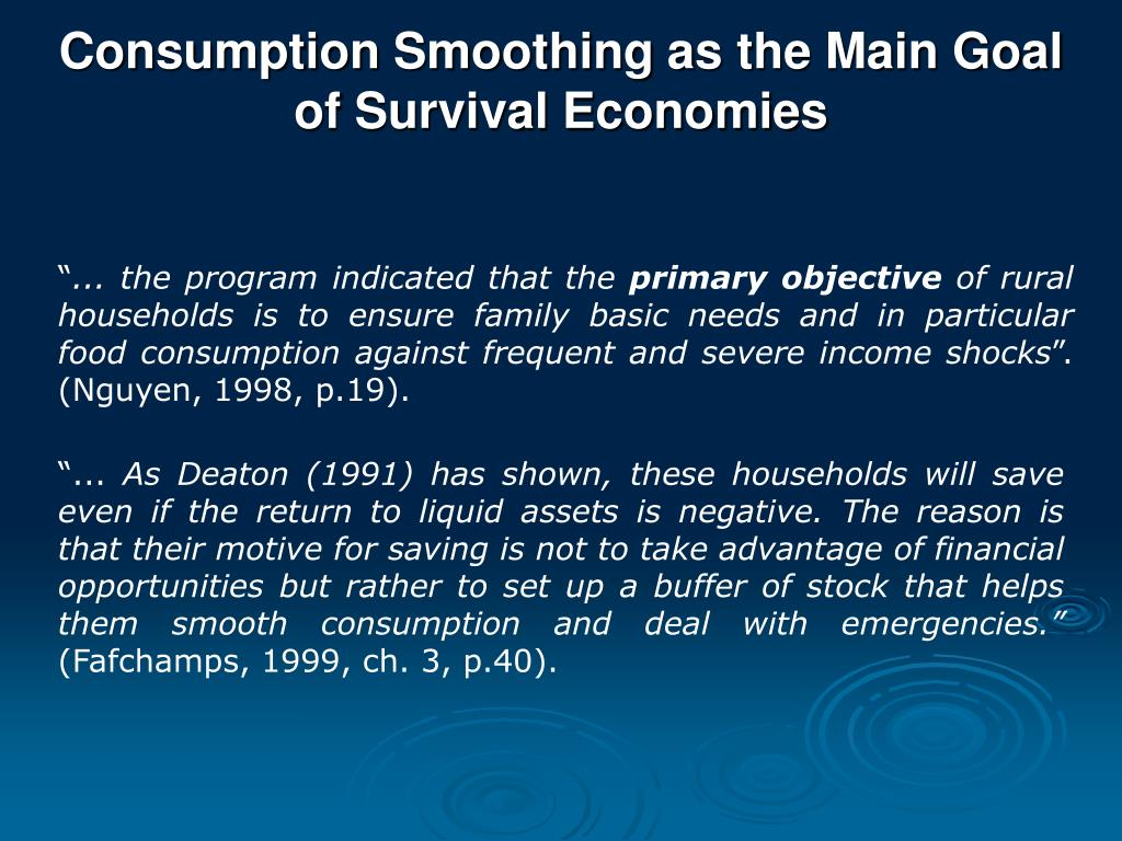 Consumption Smoothing as