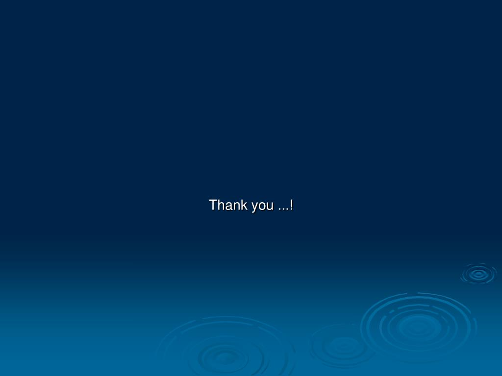 Thank you ...!