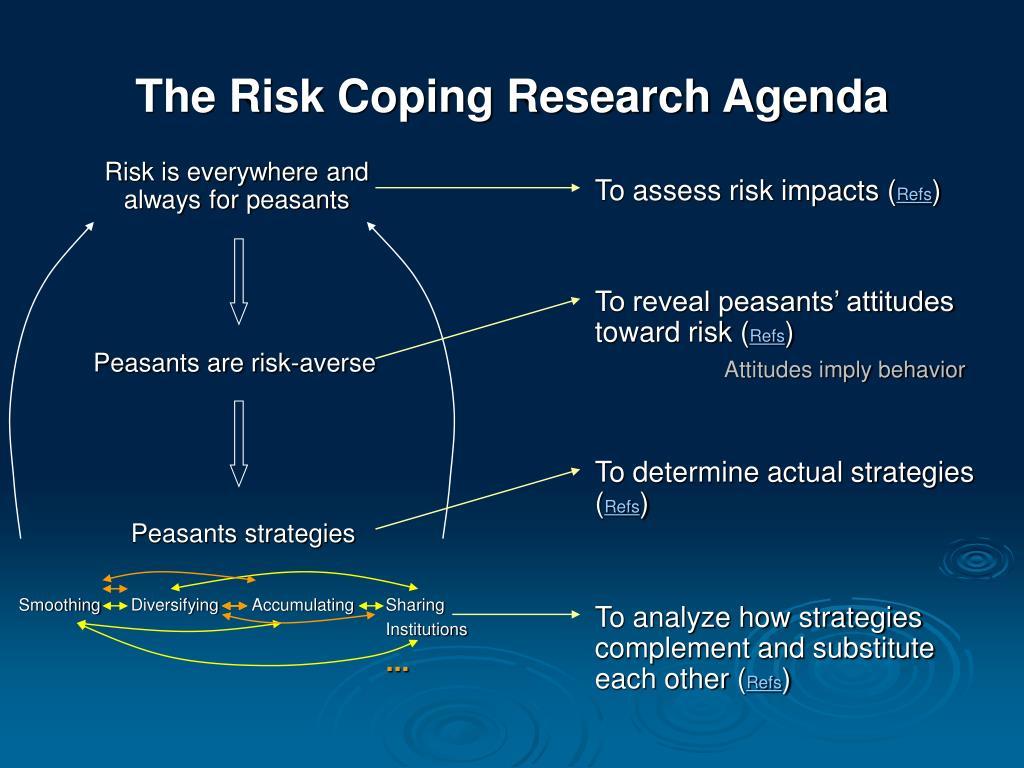 To reveal peasants' attitudes toward risk