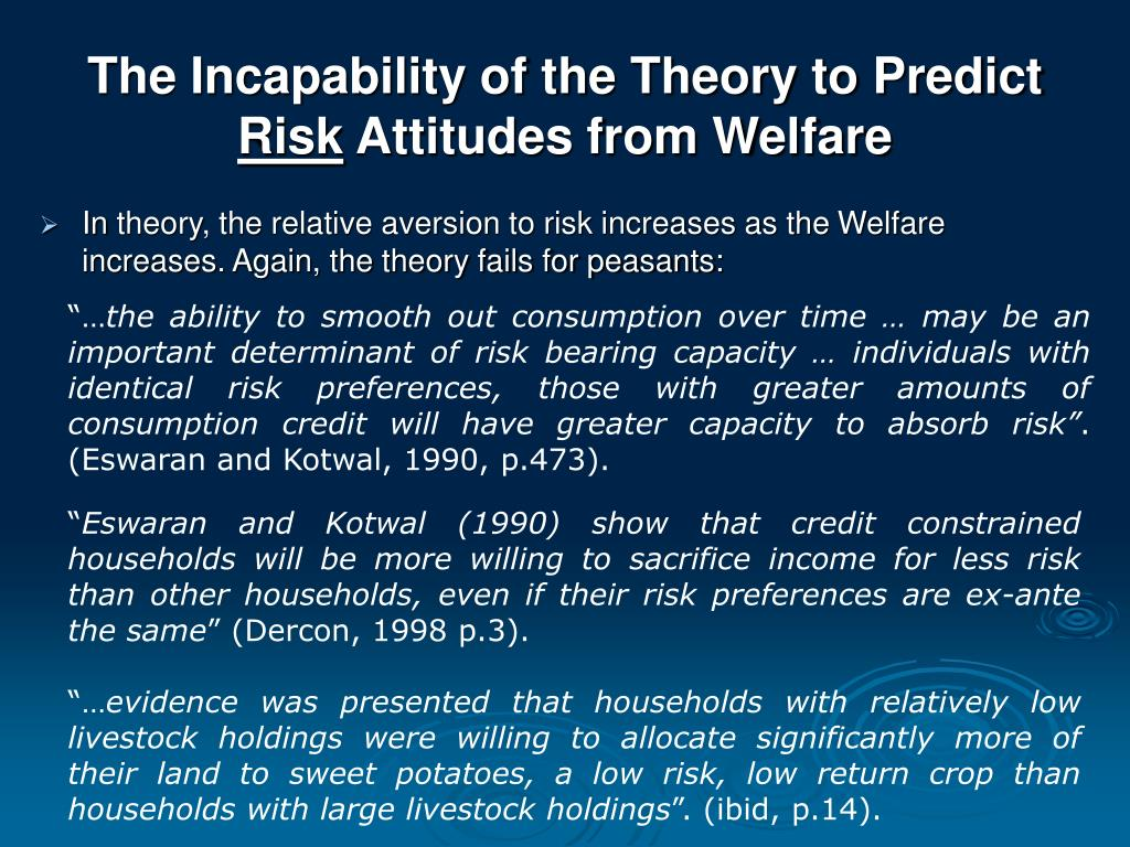 The Incapability of the Theory to Predict