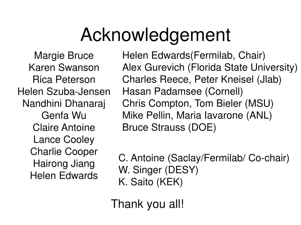 acknowledgement l.