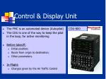 control display unit